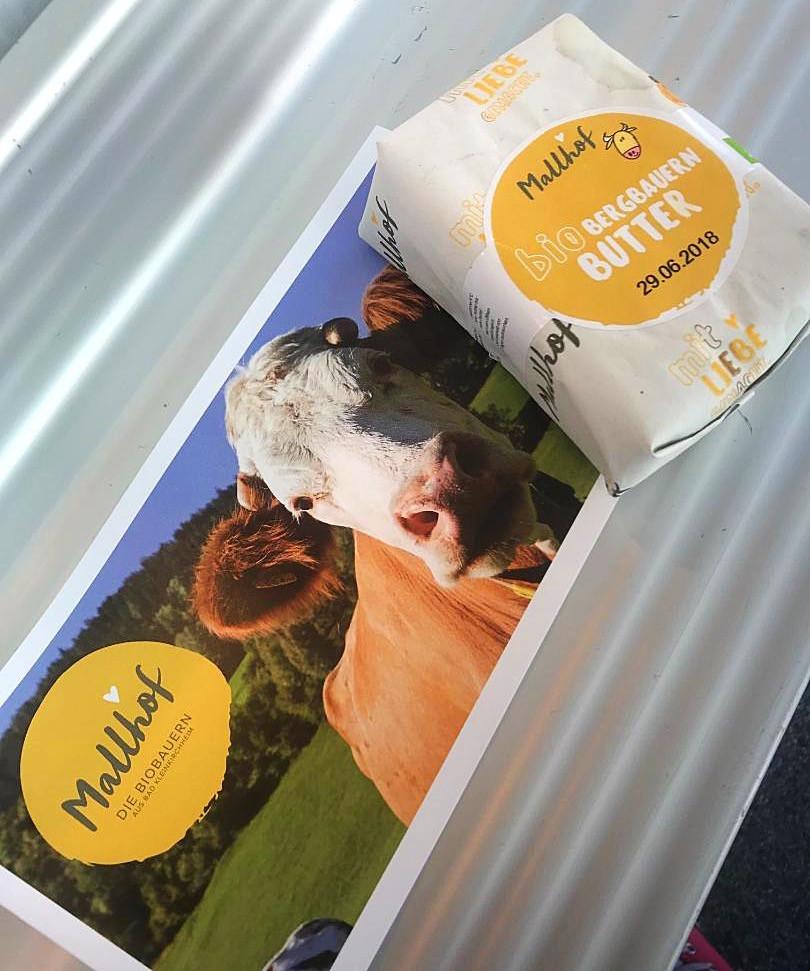 Mallhof Biological Farm Butter - What Does A Health Coach Eat in Klagenfurt, Austria - MSPETIT