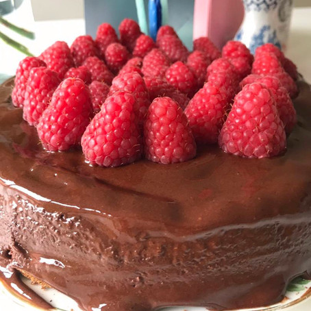 "What Does a Health Coach Eat …. On her Birthday? A Gluten Free ""Healthy"" Chocolate Cake"