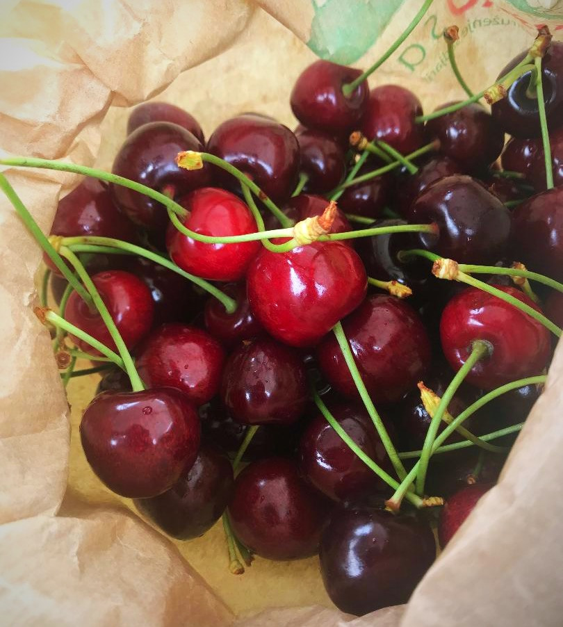 Farmer's Market Cherries from Slovenia
