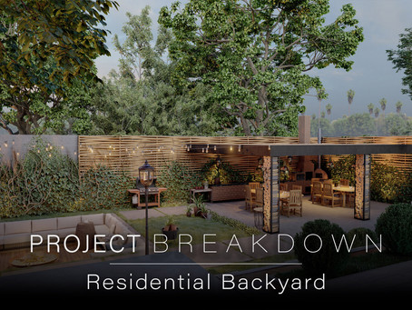 Project Breakdown: Residential Backyard from Lumion 10.5