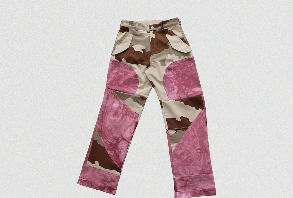 RECONSTRUCTED PATCHWORK TROUSERS (1 OF 1)