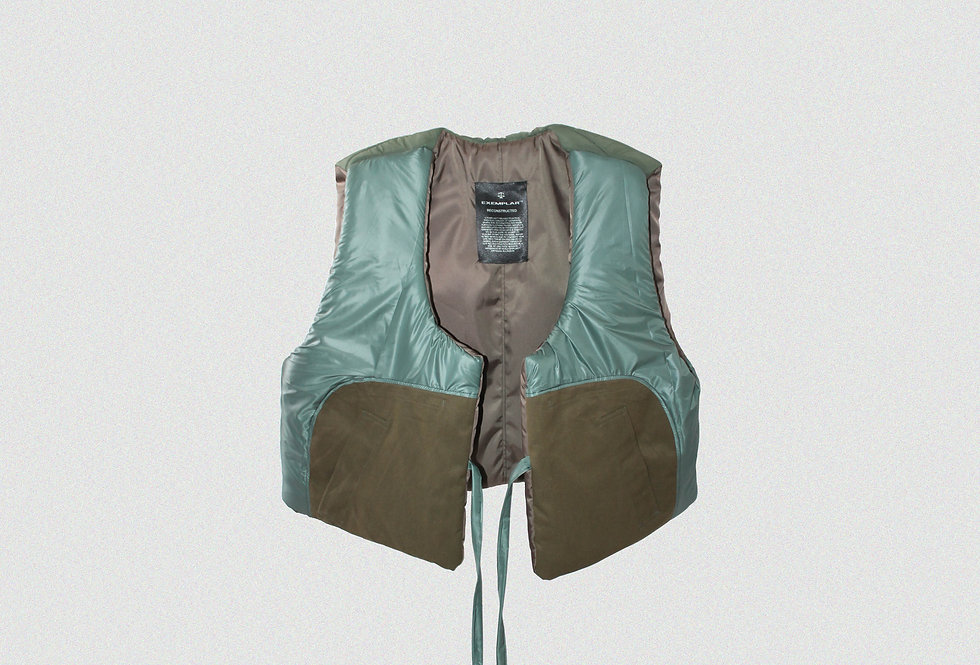 RECONSTRUCTED MILITARY JACKET GILET (1 OF 1)