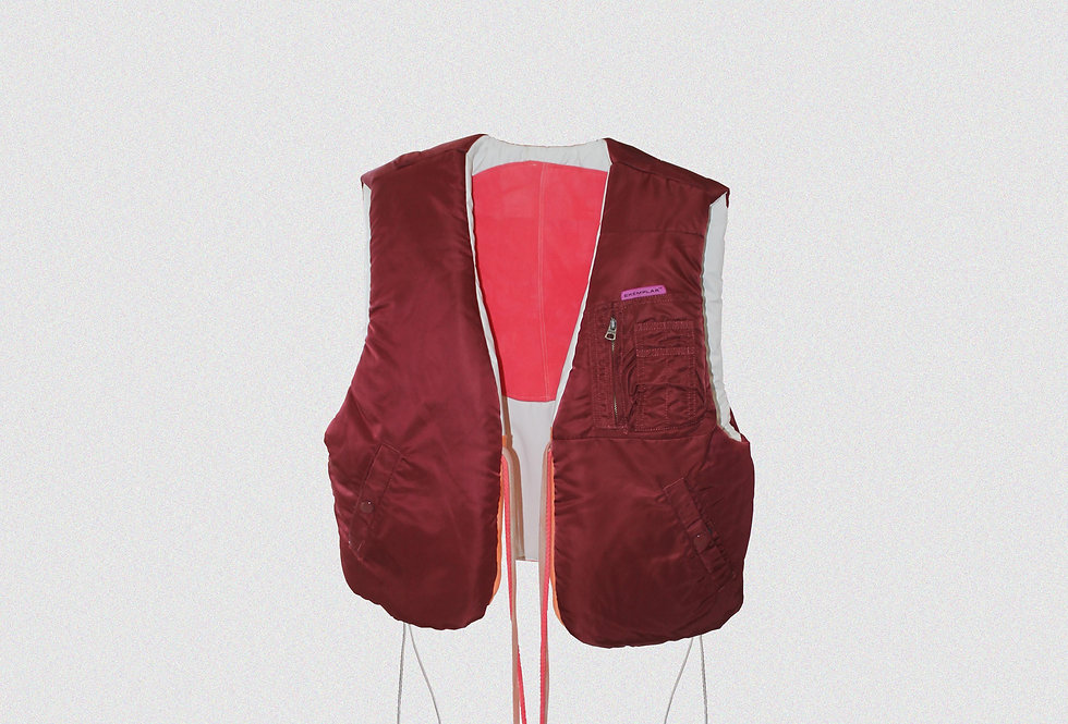 RECONSTRUCTED MILITARY FLIGHT JACKET REVERSIBLE GILET (1 OF 1)