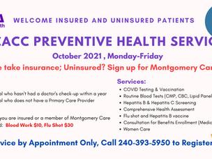 October Free Preventive Service