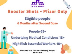 Next Pfizer Vaccine Clinic: Friday 10.29.2021