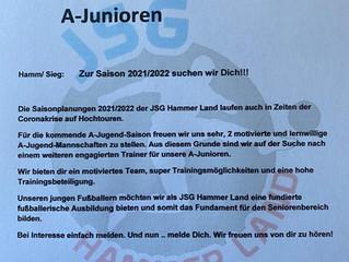JSG Hammer Land sucht weiteren Jugendtrainer für die A-Junioren