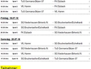 Turnier um den Verbandsgemeindepokal findet wieder auf der Kaufmannshalde statt