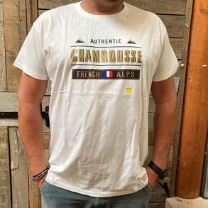 tee shirt blanc homme Chamrousse (S à XXL)