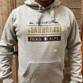 Sweat gris homme Chamrousse (S à XXL)