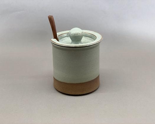 Lidded Coffee Keep and Spoon