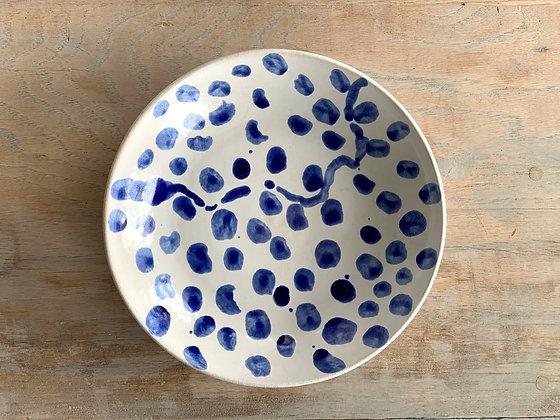 Cobalt Spotty Bowl