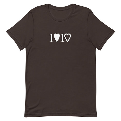 1 Love 1 Heart Adult T-Shirt
