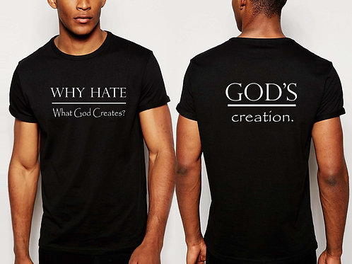 God's Creation Front and back Inspirational  T-Shirt