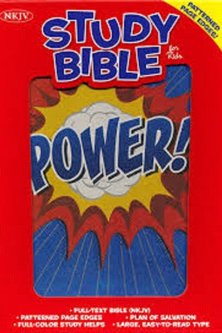 NKJV Study Bible for Kids, Power LeatherTouch