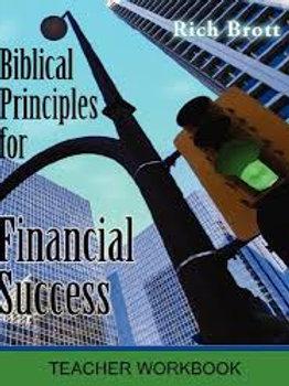 Biblical Principles for Financial Success: Teacher Workbook
