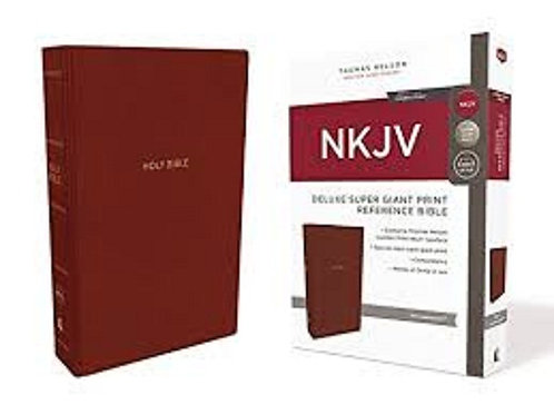 NKJV Reference Bible, Super Giant Print, Leather