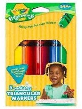 5 Washable Triangular Markers