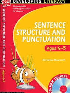 Sentence Structure and Punctuation: Ages 4-5