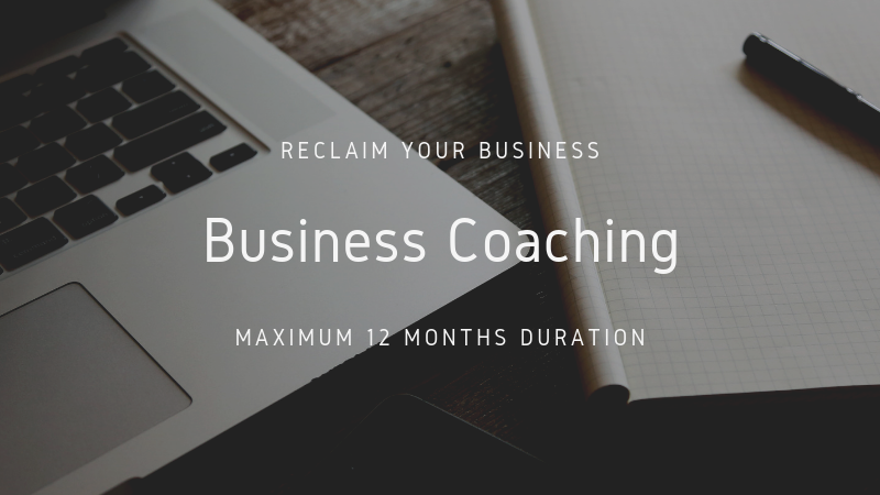 Business Coaching/Mentoring Package (max duration 12 months)