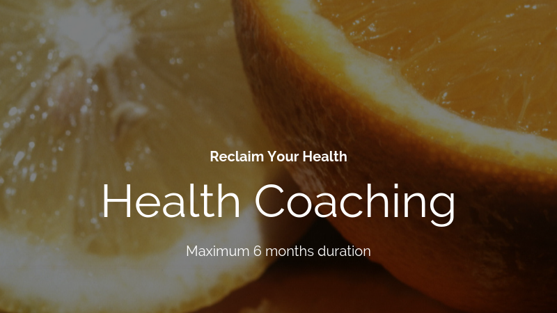 Health Coaching Package (max duration 6 months)