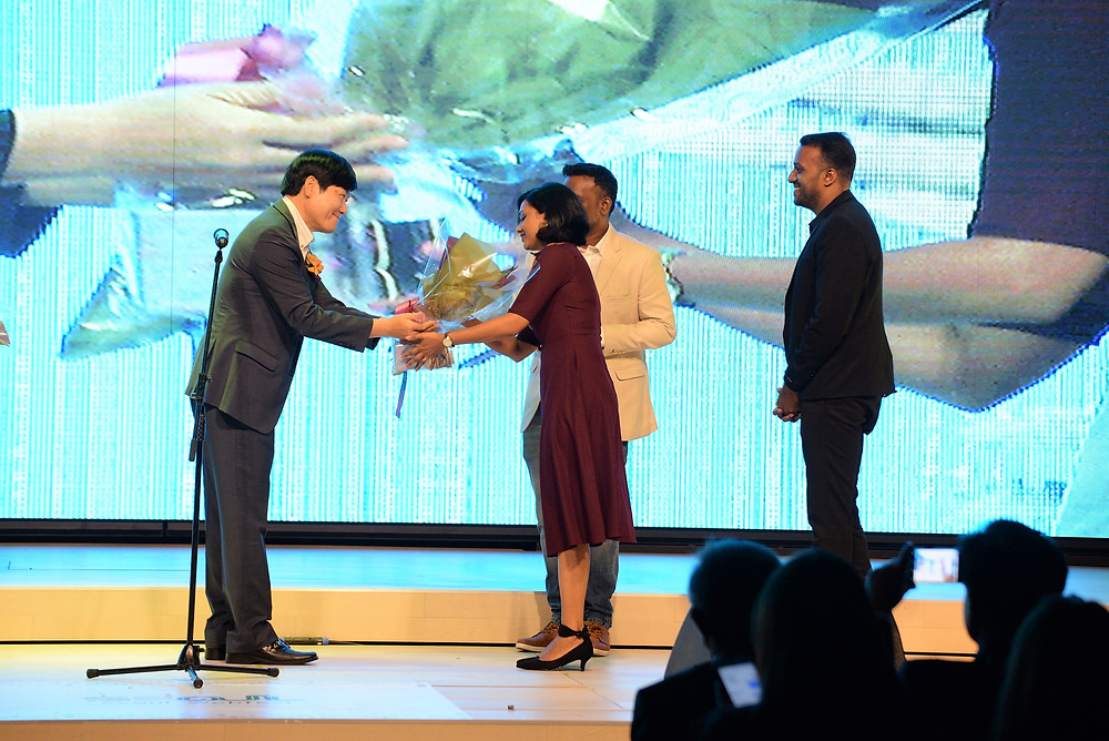 Rahul Rajagpal, Krishand and Syama at the Seoul Webfest