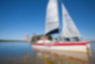 excursion voile sur le lac de lacanau