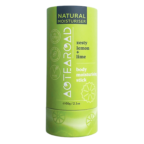 Aotearoad Natural Body Moisturiser Stick - Zesty Lemon + Lime 60g