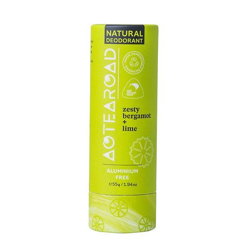 Aotearoad Natural Deodorant      Zesty Bergamot + Lime