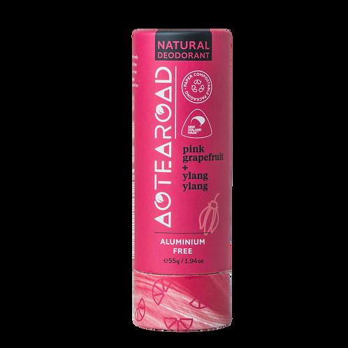 Aotearoad Natural Deodorant   Ylang Ylang + Pink Grapefruit