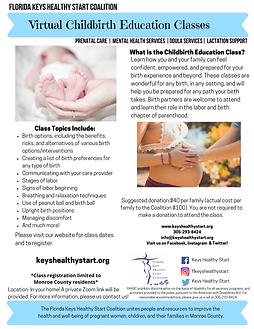 Childbirth Education Class GENERAL flier