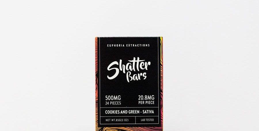 500mg Eu4ia Shatterbars Cookies and Green