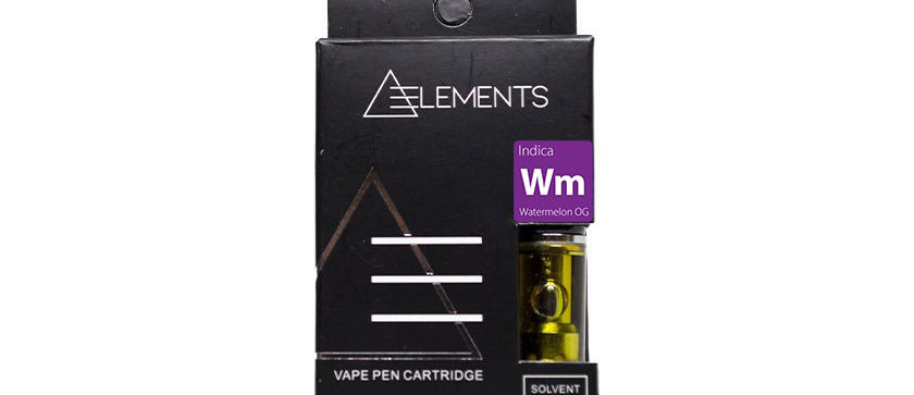 500mg Indica Vape Cartridge by Elements