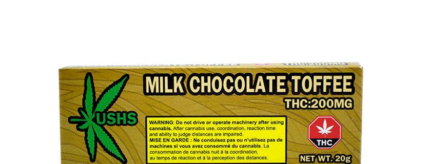 200mg Kush's Milk Chocolate Toffee