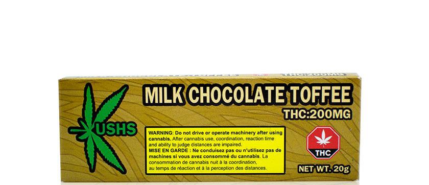 200mg Kush's | Milk Chocolate Toffee