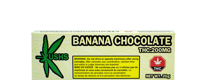 200mg Kush's Banana White Chocolate