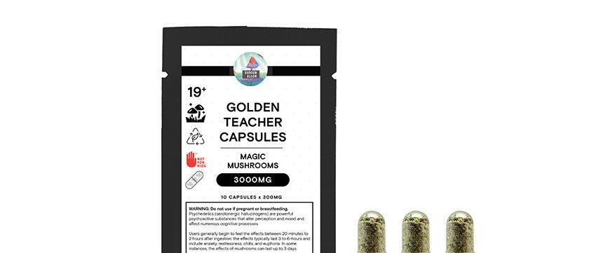 3000mg Golden Teachers Capsules| Magic Mushrooms by Shroom Bloom