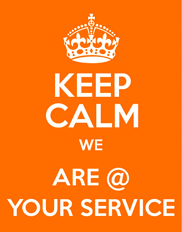 keep calm we are @ your services