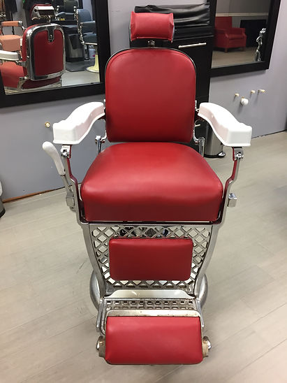 Classic barber chair at Akapn's classic cuts in Sandy Springs GA