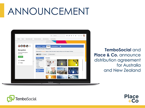 TemboSocial and Place + Co announce dist