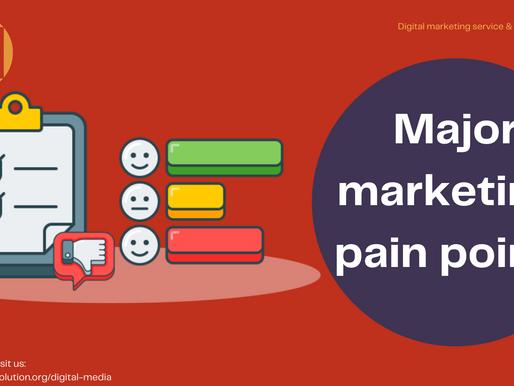 Major marketing pain points