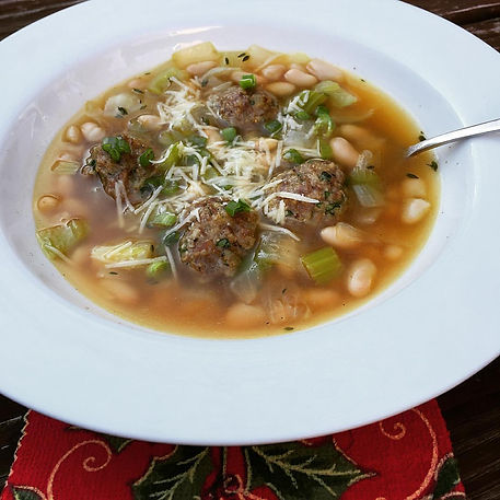 Christmas Meatball Soup