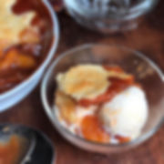 southern peach cobbler, ice cream cobbler, butter peach cobbler