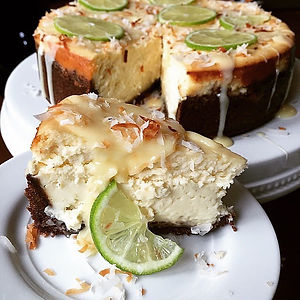 Lime Cheesecake with Coconut Ganache