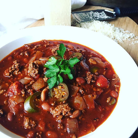 Chili With Pickled Jalapenos