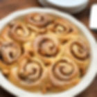 spiced rolls with buttered rum glaze
