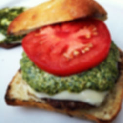 Italiano Burger with Pesto & Mozzarella