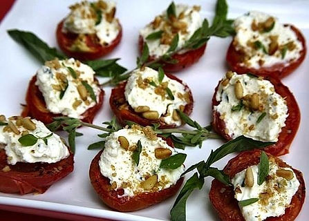 Roasted Tomatoes with Italian Cheeses