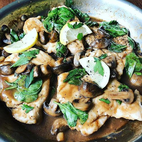 Chicken Marsala Florentine