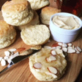 Buttermilk Biscuits with Almond Honey Butter