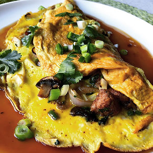 pork egg food yung, chinese omelet
